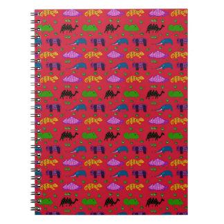 Animals - Purple Turtles & Blue Elephants Note Book