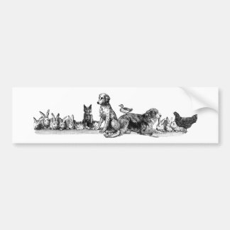 Animals Rescued Bumper Sticker