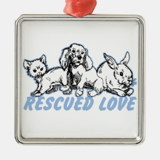 Animals Rescued Love Christmas Ornament