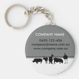 Animals Round Basic Round Button Key Ring