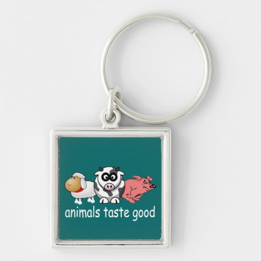 Animals Taste Good - Changeable Background Color Key Chains