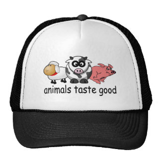 Animals Taste Good - Funny Meat Eaters Design Trucker Hats