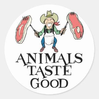 Animals Taste Good Round Sticker