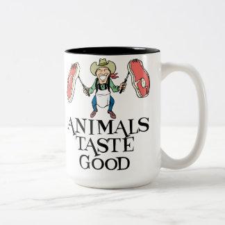 Animals Taste Good Two-Tone Mug