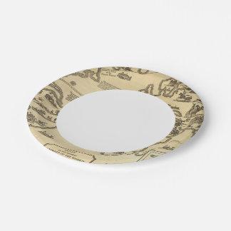 Animals World Paper Plate