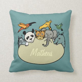 animals zoo family personalized children cushion