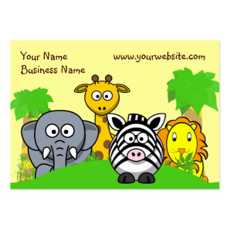 Animatastic Jungle Animals Business Card