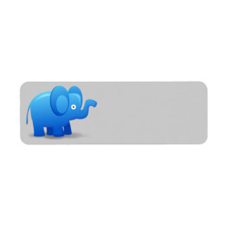 Animated Blue Elephant