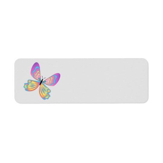 Animated Butterfly return address labe Return Address Label