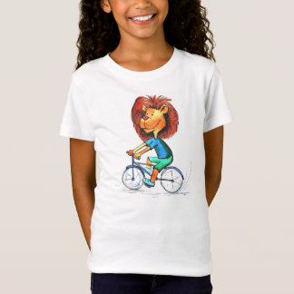 Animated Cyclist Lion Bike Ride T-shirt
