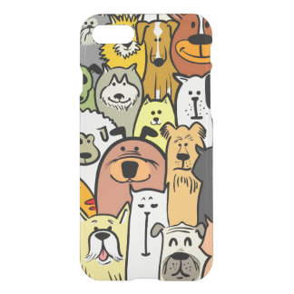 Animated Dogs and Cats illustrations iPhone 7 Case