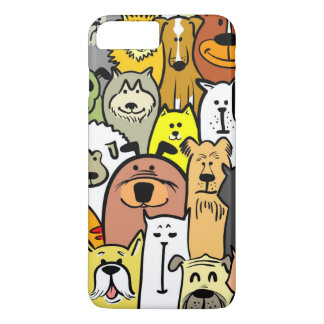 Animated Dogs and Cats illustrations iPhone 7 Plus Case