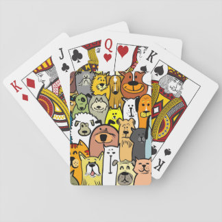 Animated Dogs and Cats illustrations Playing Cards