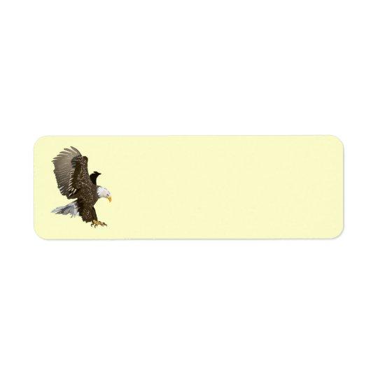 Animated Eagle Return Address Label