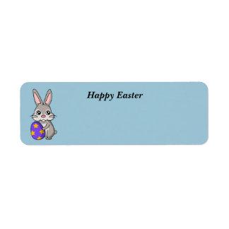 Animated Easter Bunny label Return Address Label