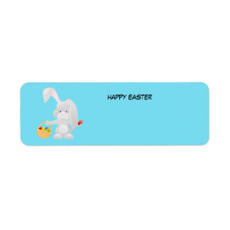 Animated Easter Bunny Return Address Label