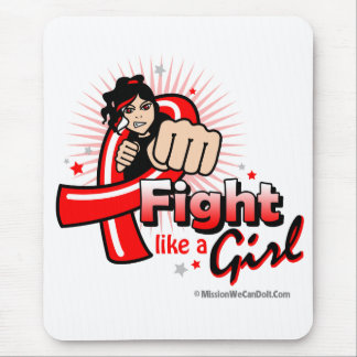 Animated Fight Like A Girl AIDS Mouse Pad