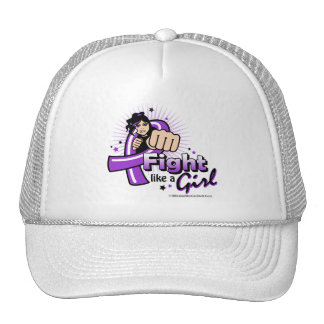 Animated Fight Like A Girl Alzheimer's Disease Cap
