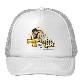 Animated Fight Like A Girl Appendix Cancer Trucker Hat