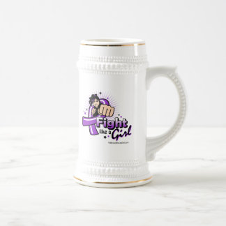 Animated Fight Like A Girl Crohn's Disease Beer Steins