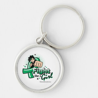 Animated Fight Like A Girl Liver Disease Keychain