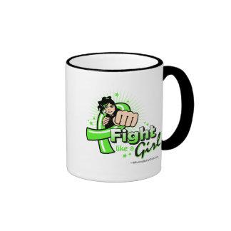 Animated Fight Like A Girl Non-Hodgkin's Lymphoma Coffee Mug
