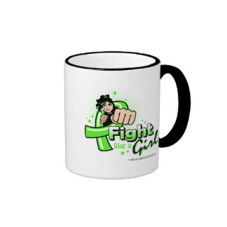 Animated Fight Like A Girl Non-Hodgkin's Lymphoma Ringer Mug