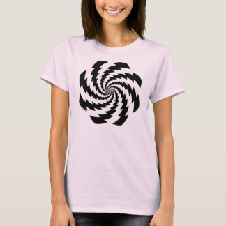 Animated Flower Ladies T-Shirt