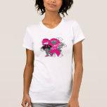 Animated Girl Breast Cancer Sucks T Shirt