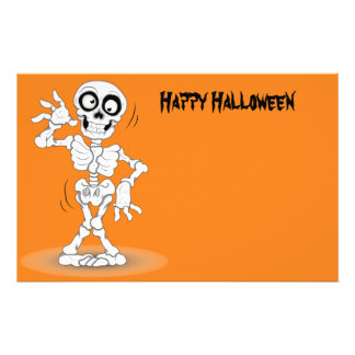 Animated Halloween Skeleton 14 Cm X 21.5 Cm Flyer