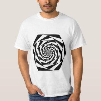 Animated Hexagons White T-Shirt