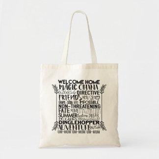 Animated Inspirational Words Tote Bag