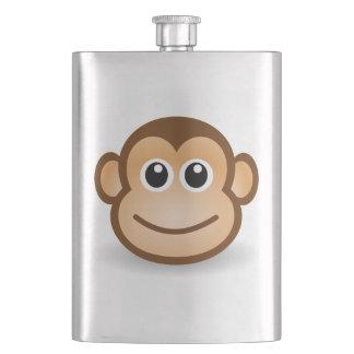 Animated monkey face hip flasks