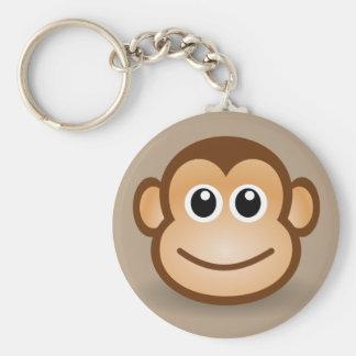 Animated Monkey Keychain Basic Round Button Keychain