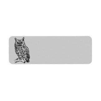 Animated Owl Return Address Label