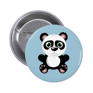 Animated Panda Bear Button 2 Inch Round Button