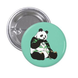 Animated Panda Bear Button 1 Inch Round Button