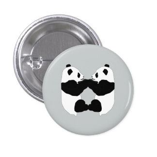 Animated Panda Bears Button 1 Inch Round Button