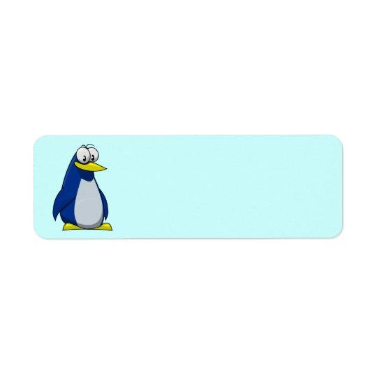 Animated Penquin Return Address Label