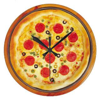 Animated Pizza clip art Clock