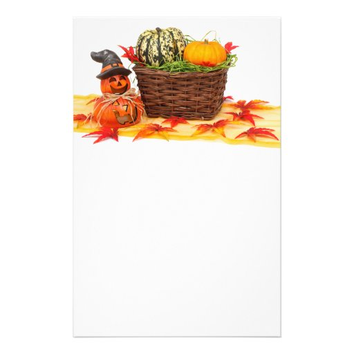 Animated Pumpkins with basket Personalized Flyer