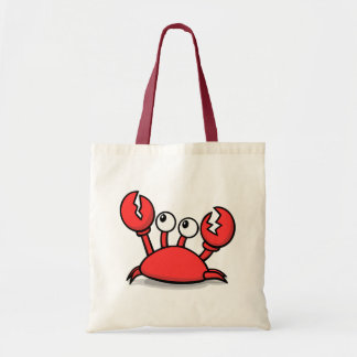 Animated Red Crab Tote Bag