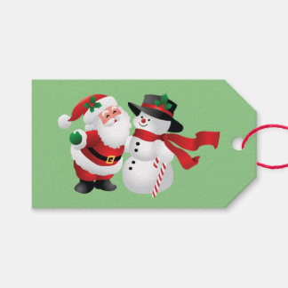 Animated Santa Claus and Snowman Gift Tags
