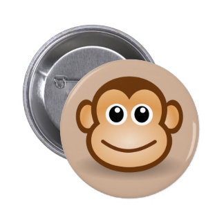 Animated Smiling Monkey Button