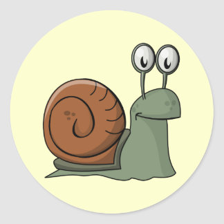 Animated Snail Classic Round Sticker