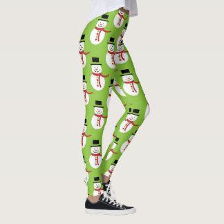 Animated Snowman Leggings