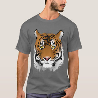 Animated Tiger Face T-Shirt