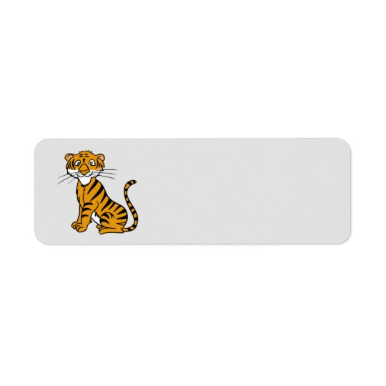 Animated Tiger Return Address Label