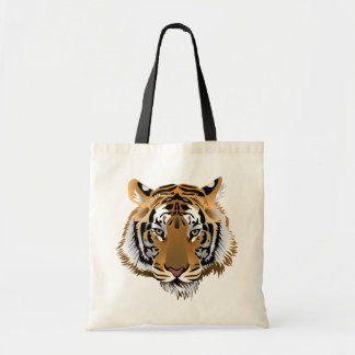 Animated Tiger's Head Budget Tote Bag
