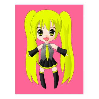 anime-155465  anime girl happy blonde people  CART Postcard